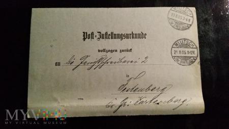 RECHTSANWALT u. NOTAR KARL BANDLOW 1905 rok