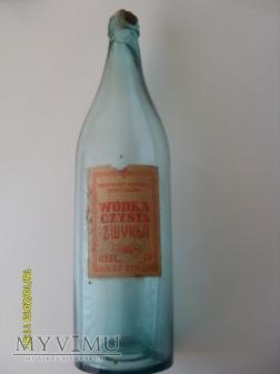 """Butelka """"Wódka czysta zwykła""""-1950 r."""