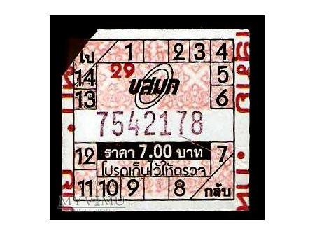 Bilet autobusowy z Tajlandii.
