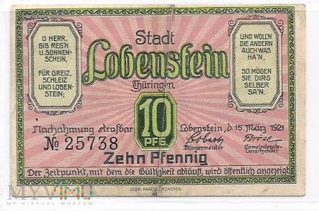 Niemcy-Notgeld.10.Lobenstein.Aw.1921