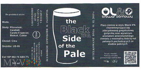 The black ipa side of the pale