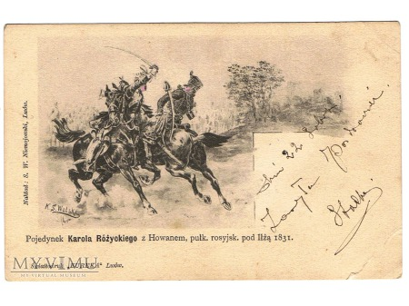 Pojedynek K.Różyckiego z Howanem pod Iłżą. 1831r.
