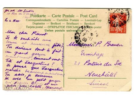 Krasnale i kalarepa stara pocztówka fantasy 1909