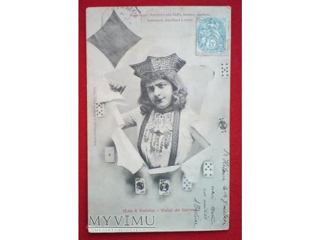 1904 Walet KARO gra w Karty złośliwy HOROSKOP