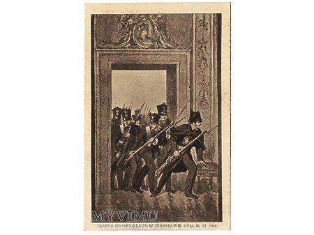 Napad na Belweder w Warszawie dnia 29.XI.1830.
