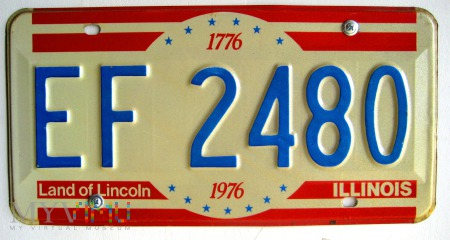 Stanowa tablica rejestracyjna pojazdu
