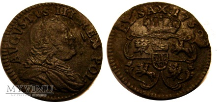 Szeląg 1752 August III SAS