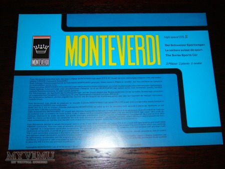 Prospekt MONTEVERDI HIGH SPEED 375S