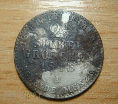 2 1/2 Silber Groschen 1843 ,A