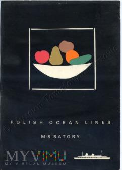 Morza Północne, 9 VI 1967 rok, kolacja na Batorym