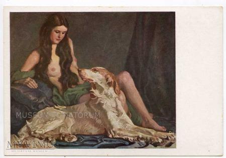 Liebermann - Dziewczyna z psem - Akt z psem