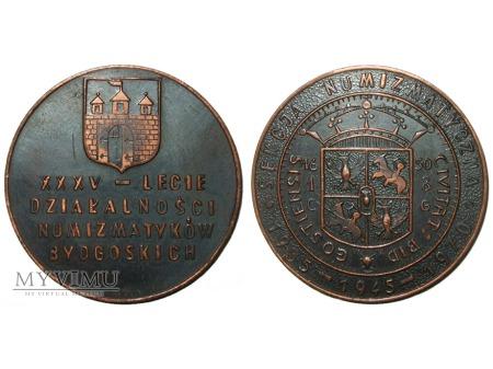 XXXV-lecie numizmatyków bydgoskich medal 1970