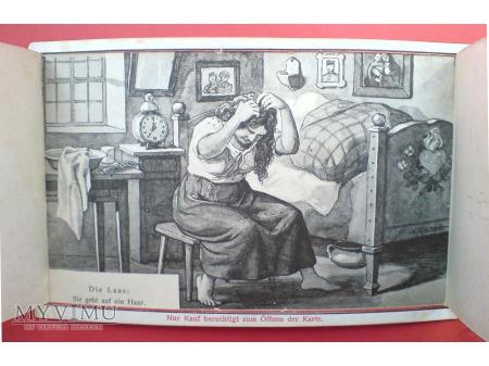 Krasnale Kruki Zagadka Pocztówka Mechaniczna 1905