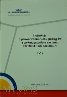 2016 - Instrukcja o prow. ruchu z ERTMS/ETCS Ir-1a