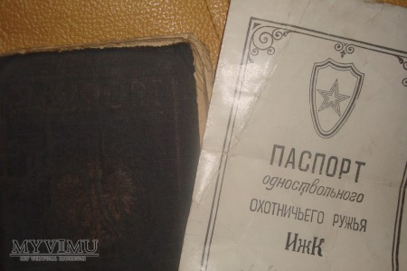 Paszport + ewakuacyjny arkusz + paszport CCCP