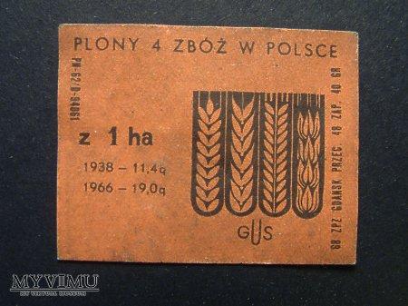 Etykieta - Plony 4 zbóż w Polsce