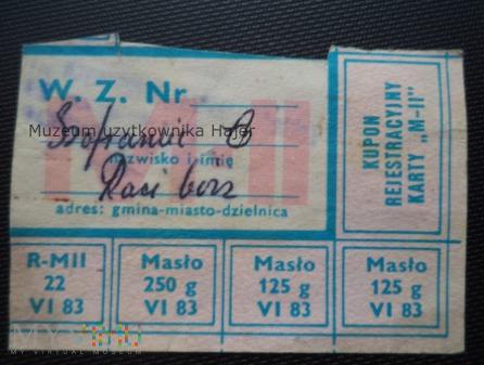 M-II czerwiec 1983 rok - kartka żywnościowa