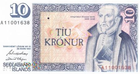 Islandia - 10 koron (1981)