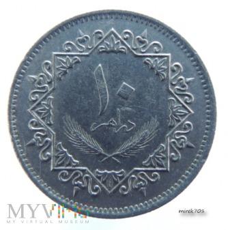 Libia 10 dirham 1979