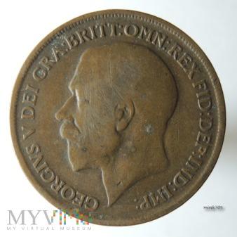 Moneta 1 Pens 1916 Jerzy V One Penny