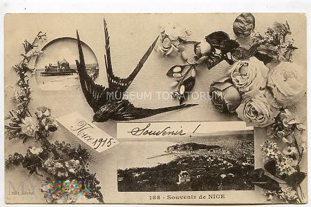 Pocztówka okolicznościowa - Pamiątka z Nicei 1915