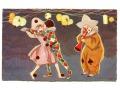 Arlecchino + Colombine Karnawał Carnival pocztówka
