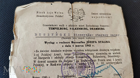 Duże zdjęcie Zbiór dokumentów na jedno nazwisko WP 1943-45