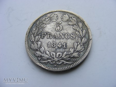 5 FRANKÓW - 1841 BB