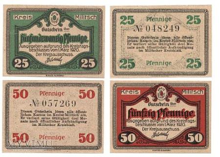 MILITSCH 25 I 50 PFENINGE 01.03.1920