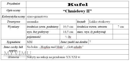 """Kufel """"Chmielowy II"""""""