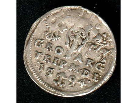 Trojak mennica Wilno- 1594 r-ładny
