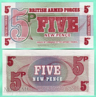 Great Britan - P-M47 - 5 New Pence - 1972