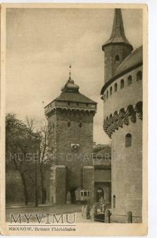 Kraków - Barbakan i Brama Floriańska - 1930
