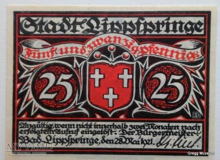 25 PFENNIG 1921 NOTGELD