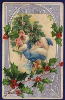 1907 Mikołaj w niebieskim ubraniu
