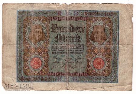 Niemcy, 100 marek 1920r. Ser.N
