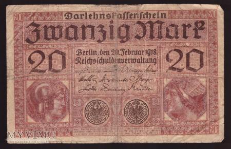 Niemcy, 20 marek 1918r. Ser.O