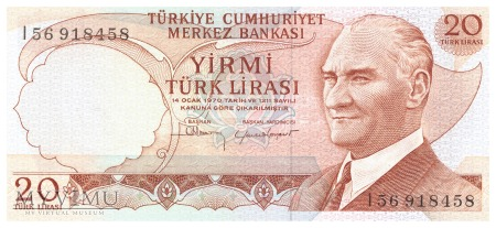Turcja - 20 lir (1987)