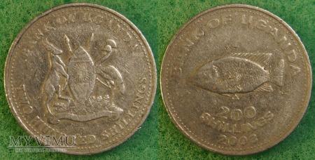 Uganda, 200 Shillings 2003