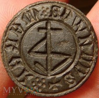 Tłok pieczętny z gmerkiem - średniowieczny