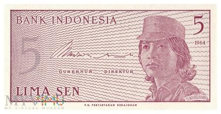 Indonezja - 5 senów (1964)
