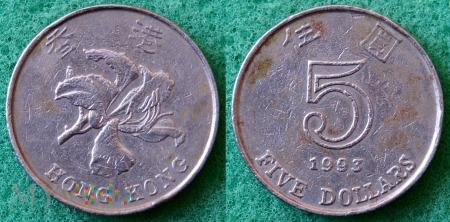 Hong Kong, 5 dolarów 1993