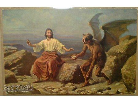 Kuszenie JEZUSA Diabeł SZATAN Demon