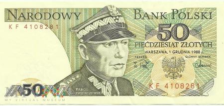 Banknot 50 złotych 1 Grudnia 1988