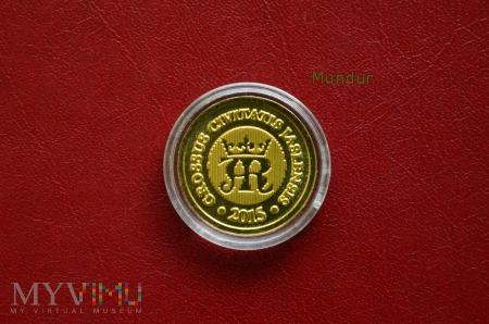 Moneta kolekcjonerska - grosz jasielski - miedź