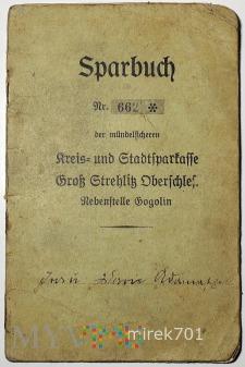 Sparbuch Gogolin 1940