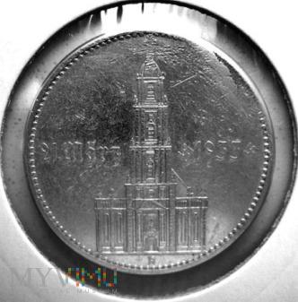 Duże zdjęcie 5 reichsmarek 1934 r. Niemcy (Trzecia Rzesza)