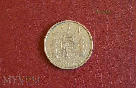 Moneta hiszpańska: cien pesetas