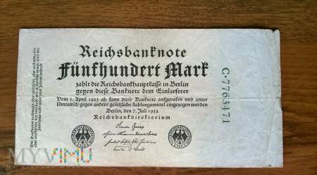 500 Mark 1922r.