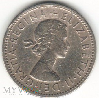 1 SHILLING 1954 ANGLIA